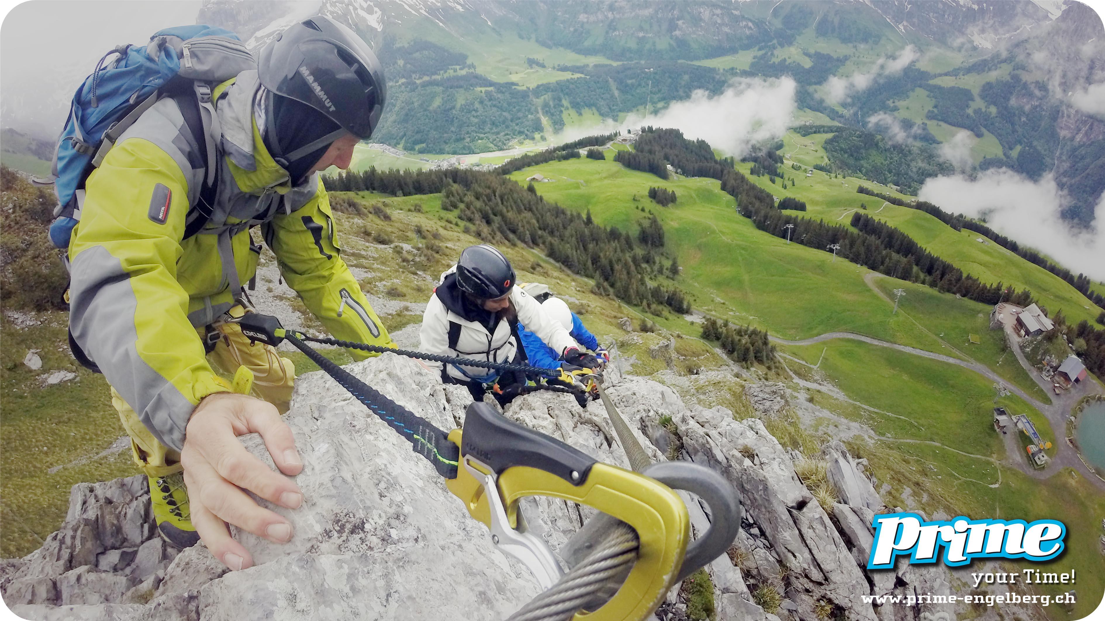 Klettersteig Adelboden : Klettersteig chäligang