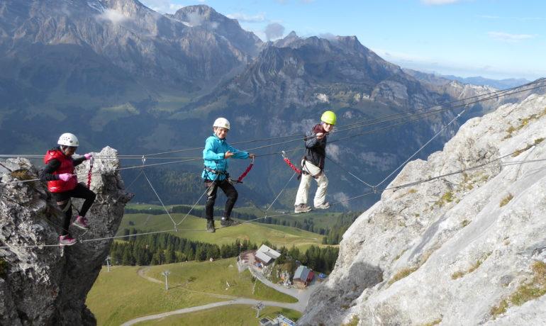 Klettersteig Zittergrat : Klettersteigtour brunnistöckli zittergrat u engelberg
