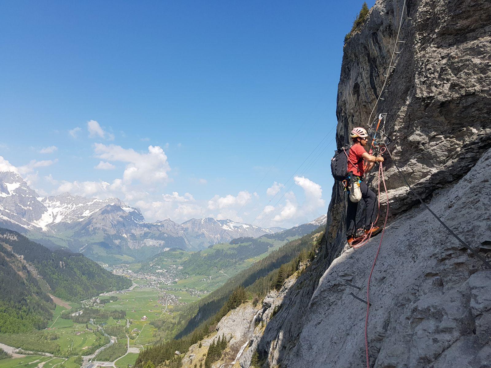 Klettersteig Fürenwand : Klettersteig fürenwand geöffnet u engelberg mountain guide