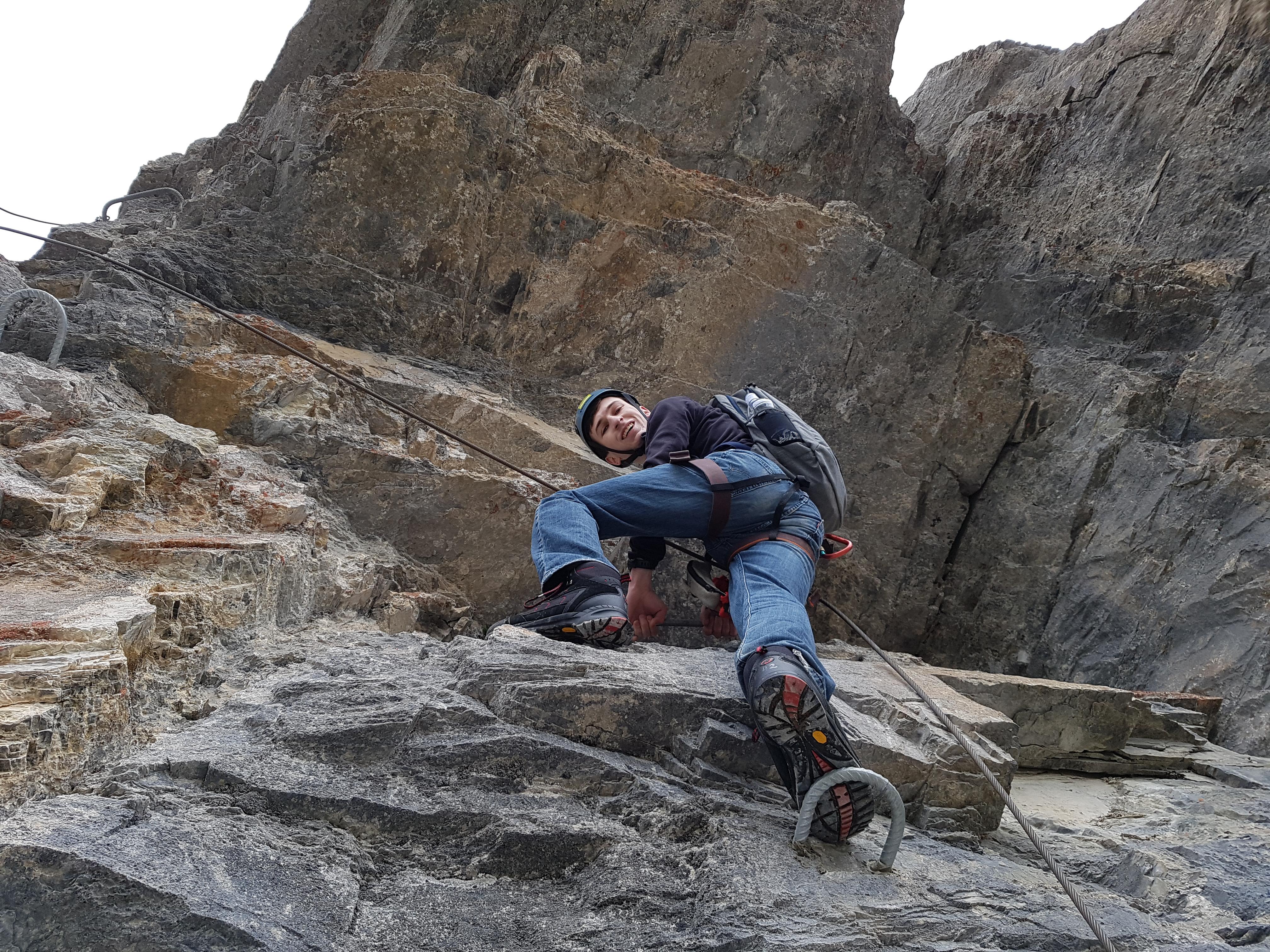 Klettersteig Adelboden : Tälli klettersteig bergsteigen